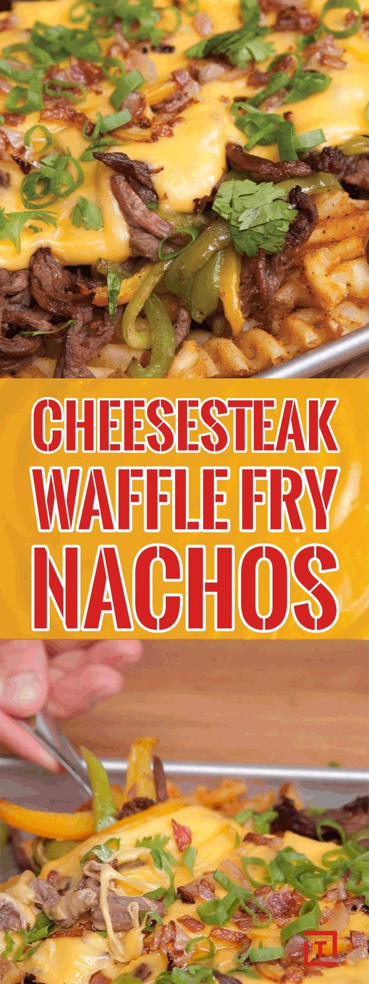 Philly Cheesesteak Waffle Fry Nachos Change the Nacho Game Forever