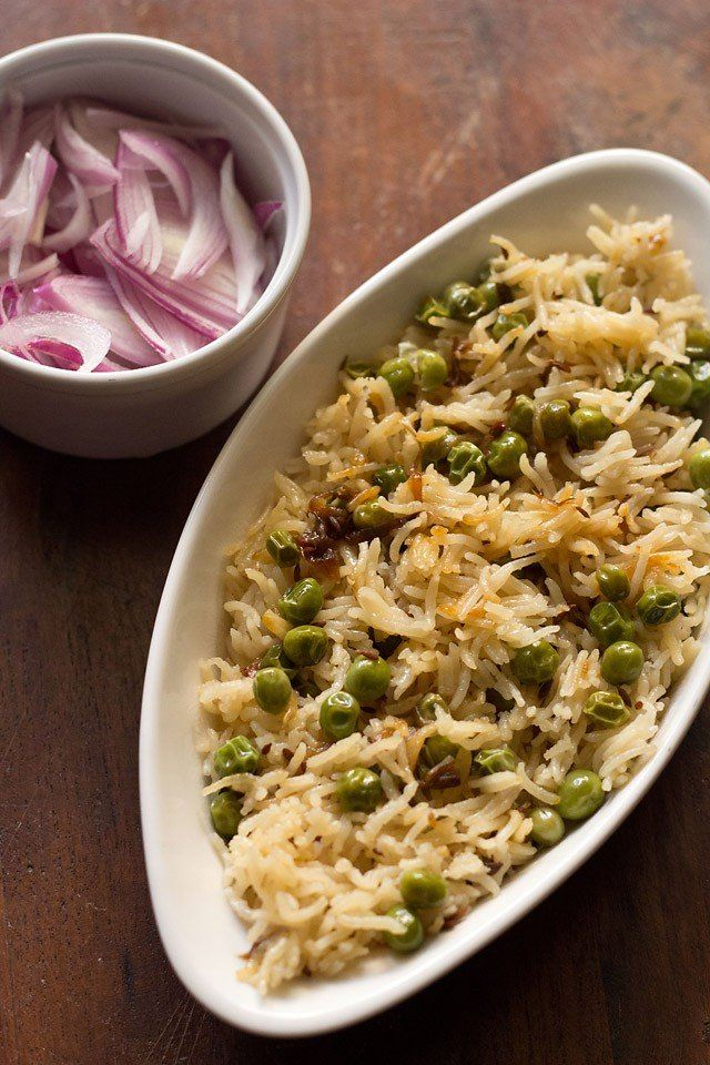 matar pulao recipe with step by step photos - peas pulao is a simple and easy pulao recipe. the matar pulao is aromatic and has sweet tones because of peas or matar. this pulao can be