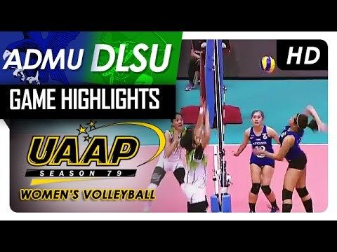 ADMU vs DLSU | Finals Game 2 | Game Highlights | UAAP 79 WV | May 6, 2017 - WATCH VIDEO HERE -> http://philippinesonline.info/trending-video/admu-vs-dlsu-finals-game-2-game-highlights-uaap-79-wv-may-6-2017/   UAAP 79 Women's Volleyball Finals Game 2: DLSU vs ADMU Game Highlights – May 6, 2017 Subscribe to ABS-CBN Sports And Action channel! –  Visit our website at Facebook: Twitter: Instagram:  Video credit to the YouTube channel owner