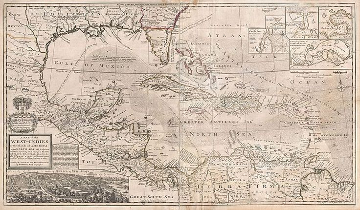 herman moll map of the west indies florida mexico and the caribbean geographicus