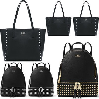 0446e1413d4e44 Borsa o zaino donna TWIG ASTELL / OKIN borchie shopping bag zainetto  ecopelle