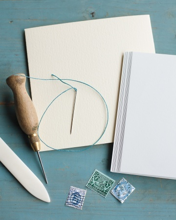 A handmade journal is just a few stitches and folds away.