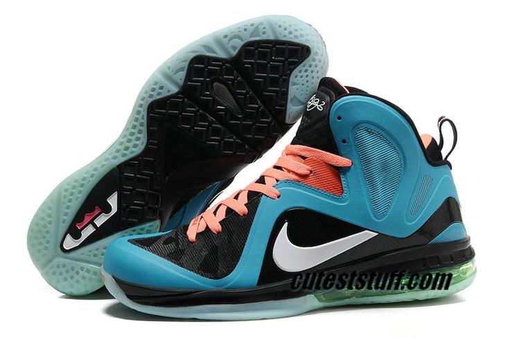 Nike Basketball Lebron 9 Shoes PS Elite Chlorine Blue Black Orange 516958 110.jpg | Basketball | Pinterest | Nike Basketball, Basketball and Nike