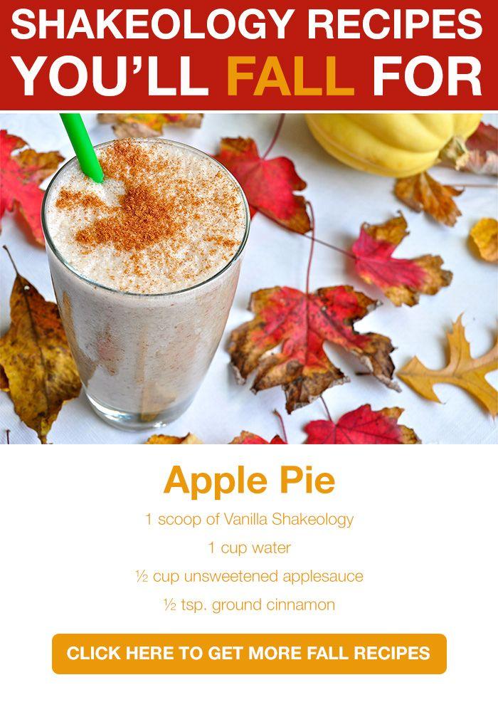 Fall Recipes? Yes Please. Shakeology? Right here: http://www.shakeology.com/where-to-buy?TRACKING=SOCIAL_SHK_PI