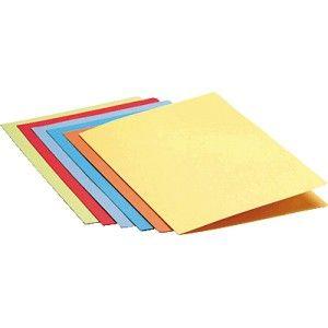 Subcarpetas de cartulina superior de 180 grs. Tamaño Folio. Color amarilla.