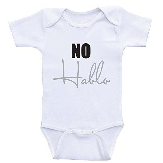 no hablo onesie | cheap baby clothes online | Amazon