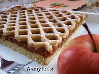 AranyTepsi: Hálós almás pite