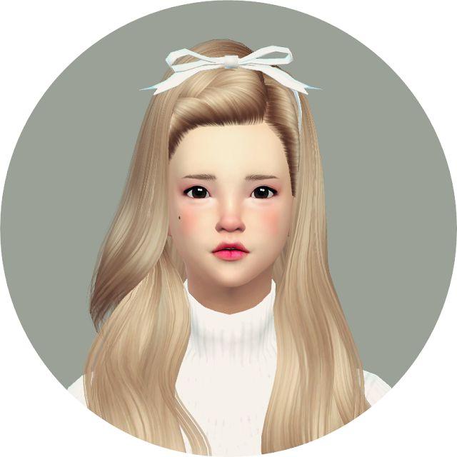 SIMS4 marigold: head ribbon_머리 리본_여자 머리띠