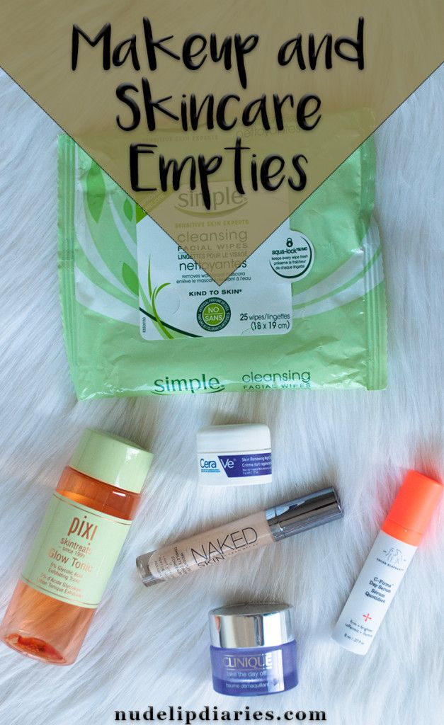 I'm so excited to say that this is my 100th blog post! I know that doesn't seem like a huge number to a lot of people but it's a big deal to me. I started … || http://nudelipdiaries.com/2018/03/13/makeup-skincare-empties-4/ || #blogger #beautyblogger #empties #beautybloggers #beautyblog #makeupblogger #makeupempties #skincareempties #simpleskin #pixi #pixiglowtonic #cerave #drunkelephant #urbandecay #clinique
