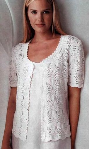 Summer knitted jacket