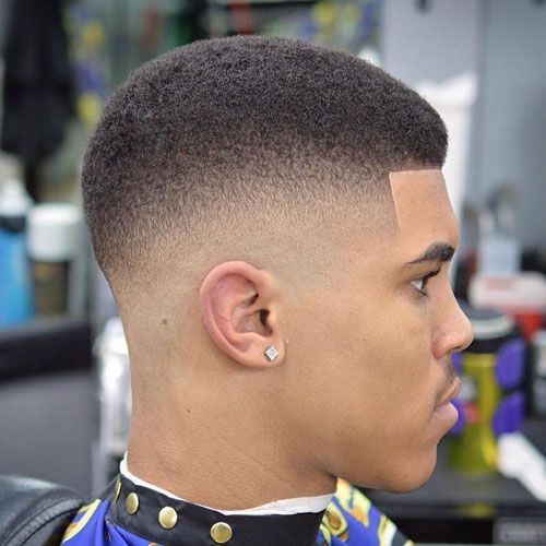 Fresh Haircuts For Black Guys - Afro Fade with Line Up