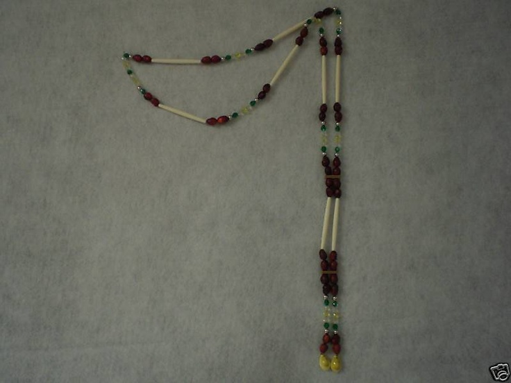 Details about Gourd Dance Bandolier: Bone HP, Glass Beads ...