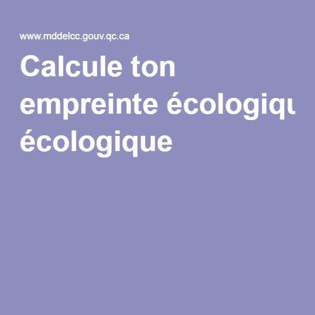 Calcule ton empreinte écologique