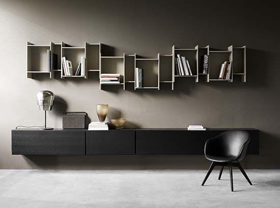 Lugano wall-mounted designer TV unit