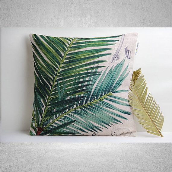 Hey, I found this really awesome Etsy listing at https://www.etsy.com/listing/187786241/tropical-leaf-beach-house-pillow-cover