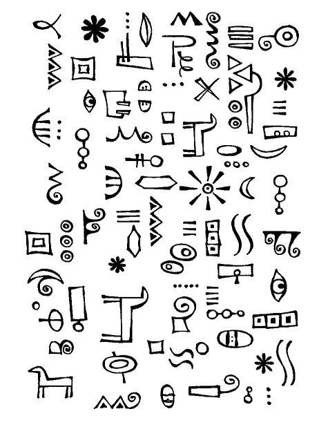 Mimi's Tribal Doodles Clear Stamp. $7.99, via Etsy.