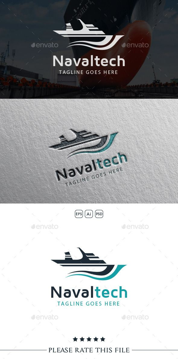 Naval Ship Logo by Exe-Design Font used: - Maven Pro Files included: - vector file - AI, EPS, PSD
