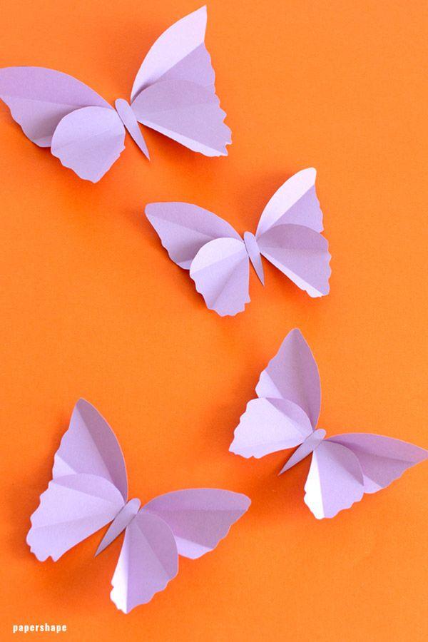 Einfache Schmetterlinge Aus Tonpapier Basteln Mit Vorlage Schmetterlinge Basteln Rosen Basteln Basteln Mit Papier Anleitung