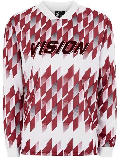 Topman VISION STREET WEAR Burgundy Football Long Sleeve Top