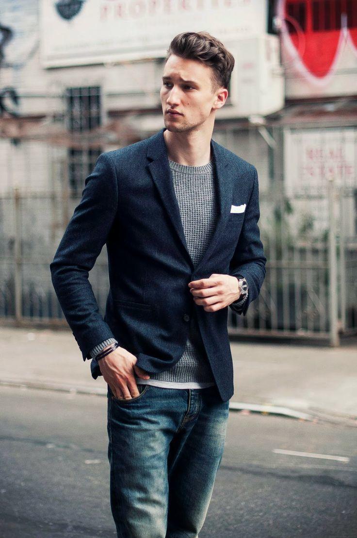 Best 25  Navy jeans ideas on Pinterest | Blazer with jeans men ...