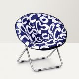 Fab Home Moon Chair Blue And White