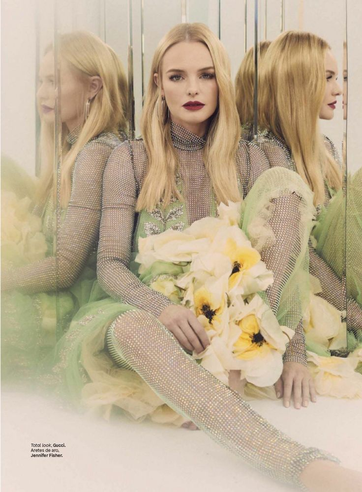 Actress Kate Bosworth in Gucci photographed by Zoey Grossman for Glamour Mexico, December 2017.