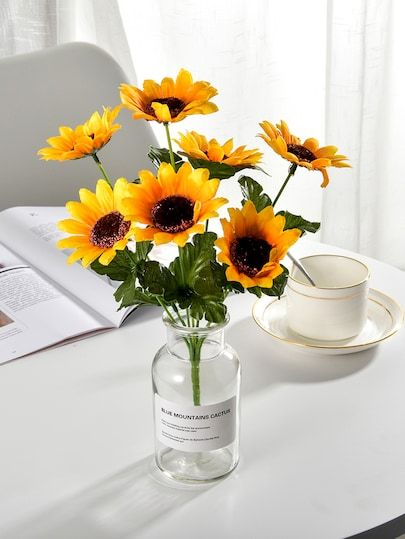 fdc9dcbfbb Artificial Sunflower Bunch With 7 Branches -SheIn(Sheinside ...