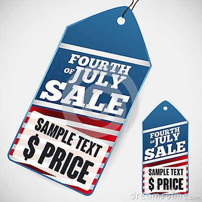 Template price tags for excellent discounts in sales for Independence Day.