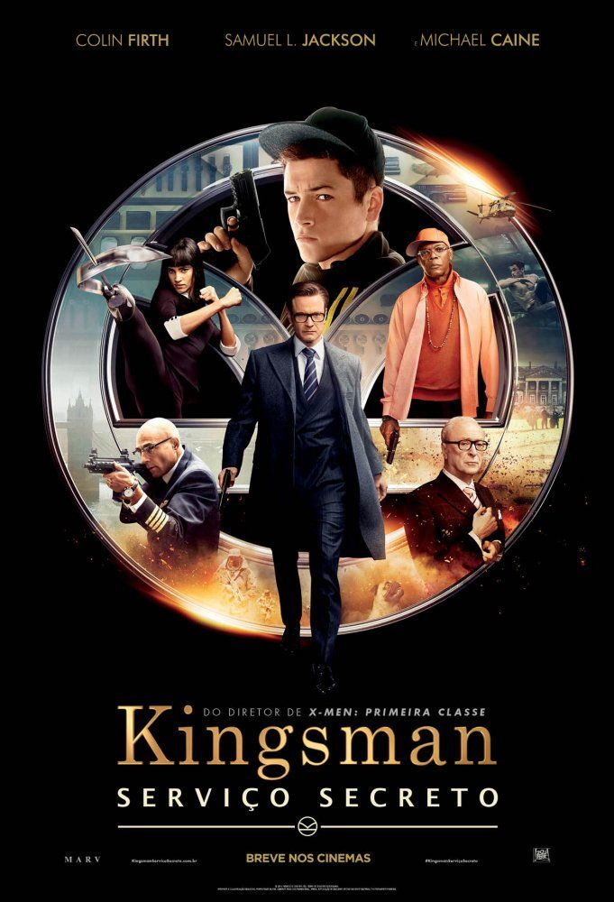 Um filme de Matthew Vaughn com Colin Firth, Samuel L. Jackson : Eggsy (Taron Egerton) é um jovem com problemas de disciplina que parece perto de se tornar um criminoso. Determinado dia, ele entra em contato com Harry (Colin Firth), que lhe apresenta à agência de espionagem Kingsman. O jovem se une a um time de...