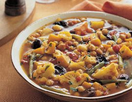Vegetable Tagine. Oh my god, I never want to stop eating this! Substituted dates for prunes and the deliciousness does. not. stop. Vegetarian Times, will you marry me?