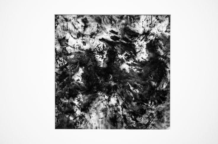 Burgos y la hermandad de los hombres. Chinese ink on Xuan paper, 20 x 20cm, Ramón Peralta, 2015.
