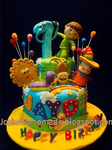 Baby TV birthday cake