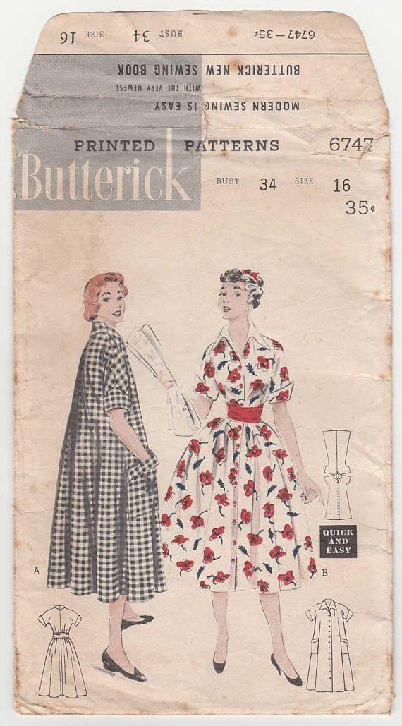 Women s Morning Dress House Coat Sewing Pattern Misses  d5c6d1780