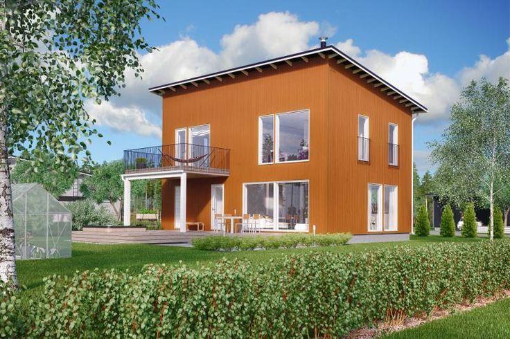 Katso Design-Talo 163 Moderni Käpylä 2krs ja yli tuhat muuta talomallia Meillä kotonan Talohausta.