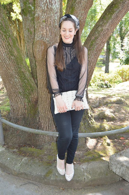 #Black White #look #outfit #luztieneunblog #elegante #cita #findesemana #entretiempo #casual #lunares #primavera #trendy #clase #turbante #compras #diario #chic #verano #jeans #negro #otoño #blanco #plumeti #lunares#blanco