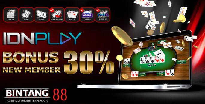 Bonus New Member 30 Idnpoker Dadu Ruang Permainan Poker