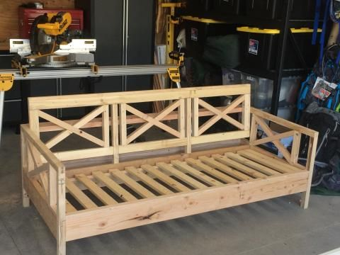 Outdoor Sofa Mash Up More · Homemade SofaHomemade FurnitureDiy ...