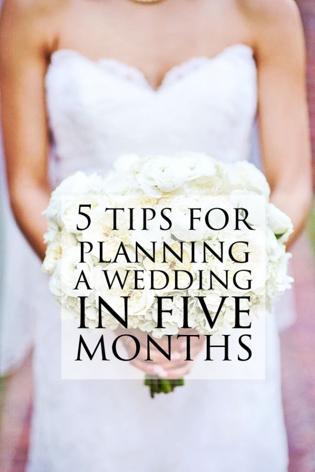 How To Plan A Wedding In 5 Months My Style Pinterest Planning And Tips