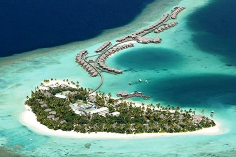 Halaveli in the Maldives on the Indian Ocean