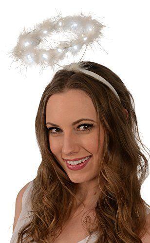Light-Up Angel Halo Headband; White LED Angel Halo Kangaroo