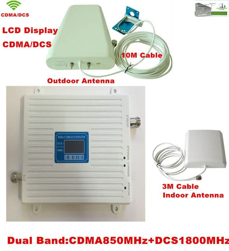 2017 New 65dB High Gain 850 1800 MHz Dual Band Cell Mobile Phone Signal Booster Amplifier,GSM CDMA DCS Cellular Signal Repeater #Affiliate
