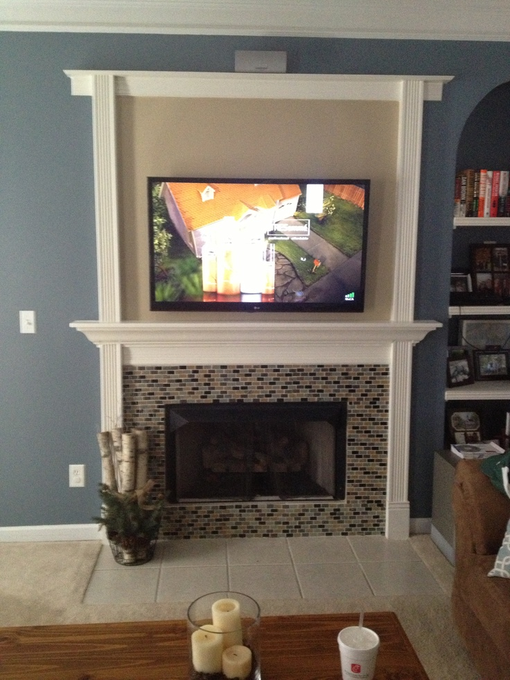 Weekend DIY fireplace makeover | Family room ideas | Pinterest