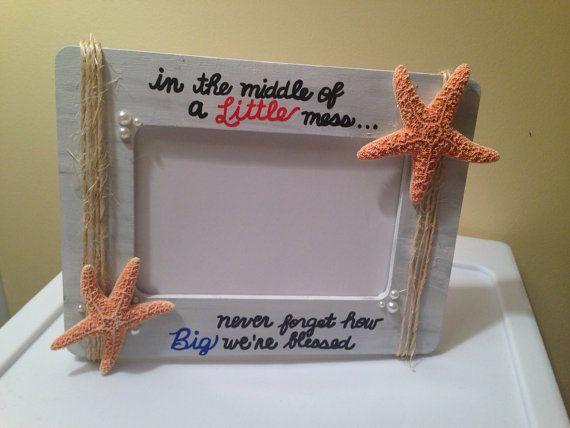 Big/Little sorority beach themed frame by RoyalAppleGifts on Etsy, $12.49
