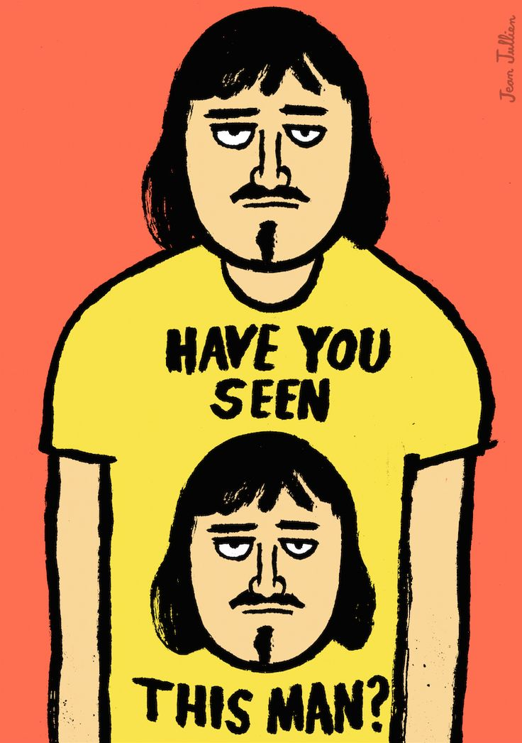 Have you seen this man? #illustration - http://www.jeanjullien.com/