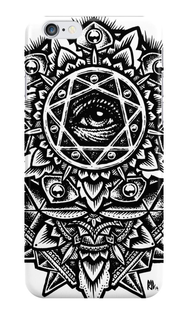 'Eye of God Flower Mandala' iPhone Case by Roberto Jaras Lira