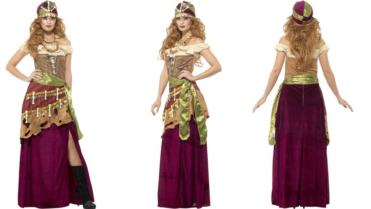 Extravagant Vodoo Gipsy style costume for women.
