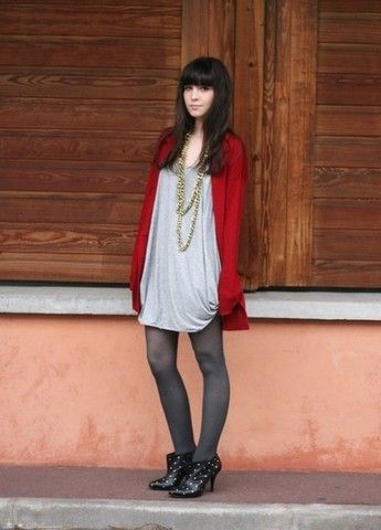 Betty A - The Kooples Cardigan, Gestuz Vest, Oasis Boots - :)