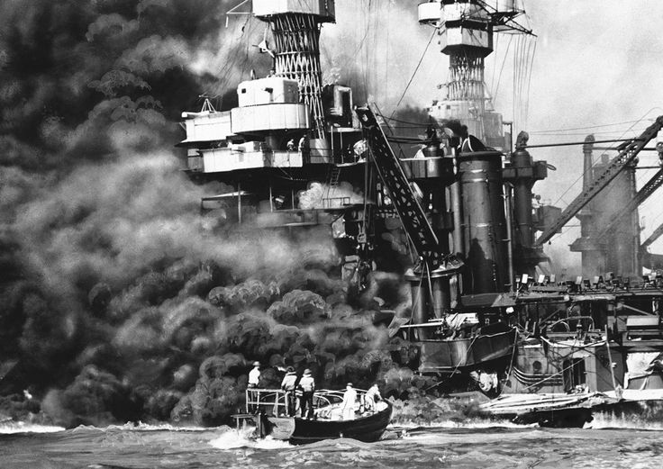 Dec. 7, 1941, during the attack on Pearl Harbor (U.S. Navy/AP)
