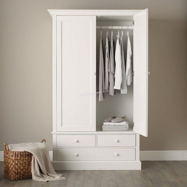 Lemari Pakaian Anak Duco Ukuran standar (P x L x T) = 90cm x 50cm x 190cmBahan dari kayu mahoni perhutani solidDengan 2 Pintu ( Rak baju gantung laci