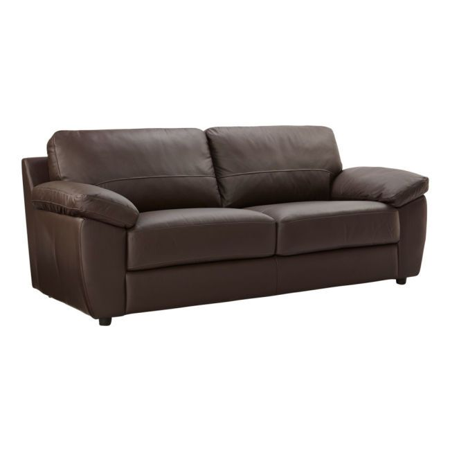 Trieste 3 Seater Sofa Expresso Brown Leather additional image 1